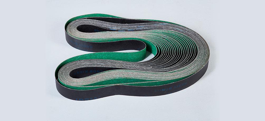不锈钢制品公司定制胶轮套锆刚玉砂带案例